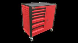 Tủ dụng cụ 10 ngăn kèm hộc có khóa N1T1RD10-R 2