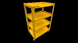 Xe để dụng cụ 4 ngăn N0R4-Y (Vàng) 2